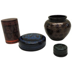 Collectible Set of Indian Lacquer Ware