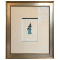 Collectible Signed Erte Lithograph of Stylish Woman