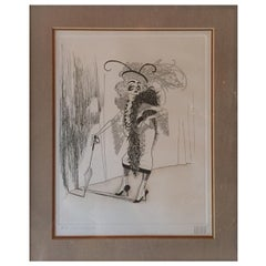 Collectible Signed Hirschfeld Signed Limited Edition Etching