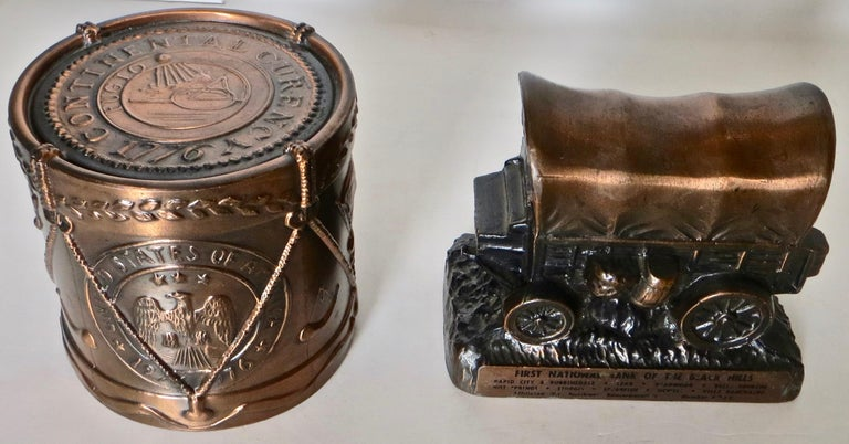 Collection '10' Banthrico and Metal Banks Western/Americana Theme. Ca. 1950's-70 For Sale 6