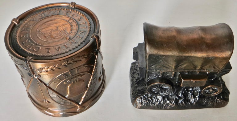 Collection '10' Banthrico and Metal Banks Western/Americana Theme. Ca. 1950's-70 For Sale 7