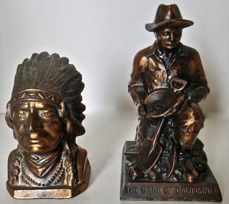 Collection '10' Banthrico and Metal Banks Western/Americana Theme. Ca. 1950's-70 For Sale 9