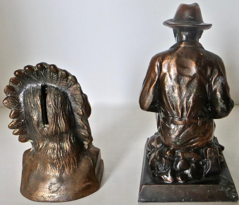 Collection '10' Banthrico and Metal Banks Western/Americana Theme. Ca. 1950's-70 For Sale 10
