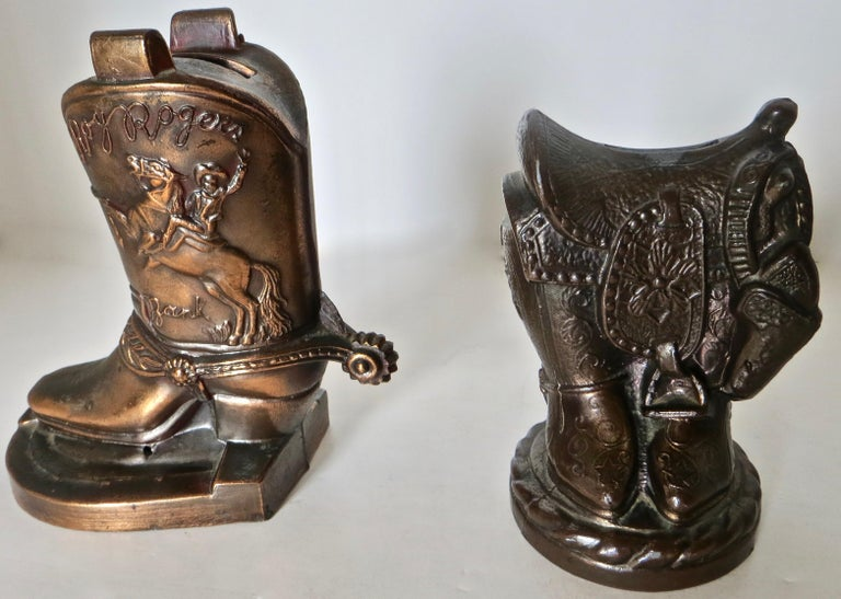 20th Century Collection '10' Banthrico and Metal Banks Western/Americana Theme. Ca. 1950's-70 For Sale