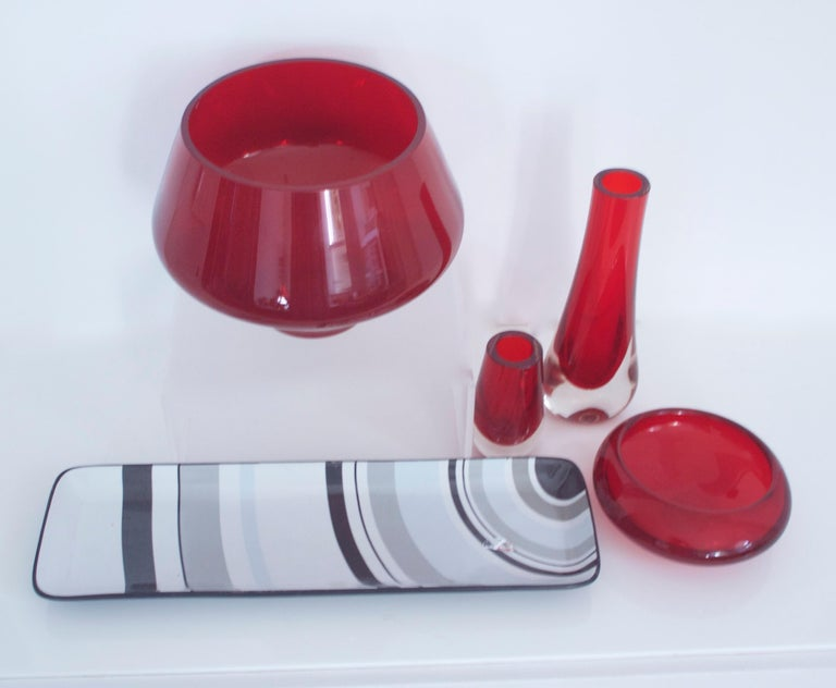 Collection, Late 1950s Geoffrey Baxter Whitefriars and Almo Okkoin Riihimaen For Sale 1