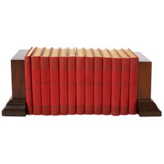 Collection Leather Bound Books / Thirteen Volumes
