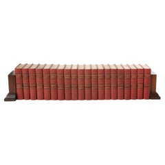 Collection Leather Bound Library Book Set / Twenty Volumes