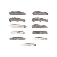 Collection of 11 Sterling Fruit Knives, 1860-1890