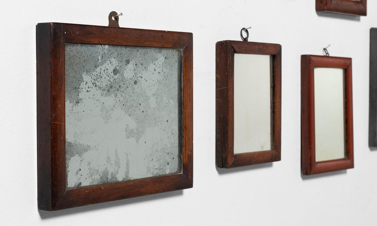 Collection of '13' Shaving Mirrors In Good Condition In Culver City, CA
