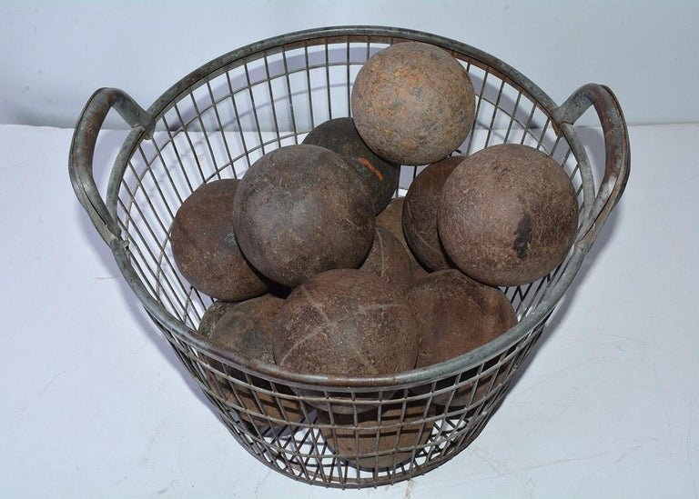 Napoleon III Collection of 15 Antique Italian Bocce Balls For Sale