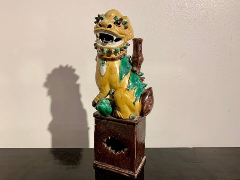Collection of 16 Chinese Yellow Glazed Foo Dogs, Early 20th Century, China For Sale 11