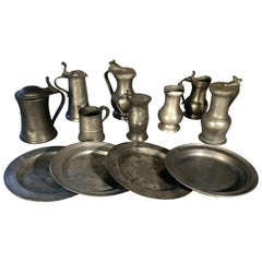 Collection of 18th and 19th Century Pewter