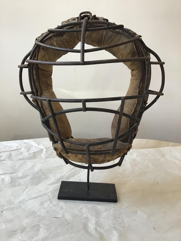 Collection Of 8  Baseball Gloves And Catchers Masks From The 1940s For Sale 12