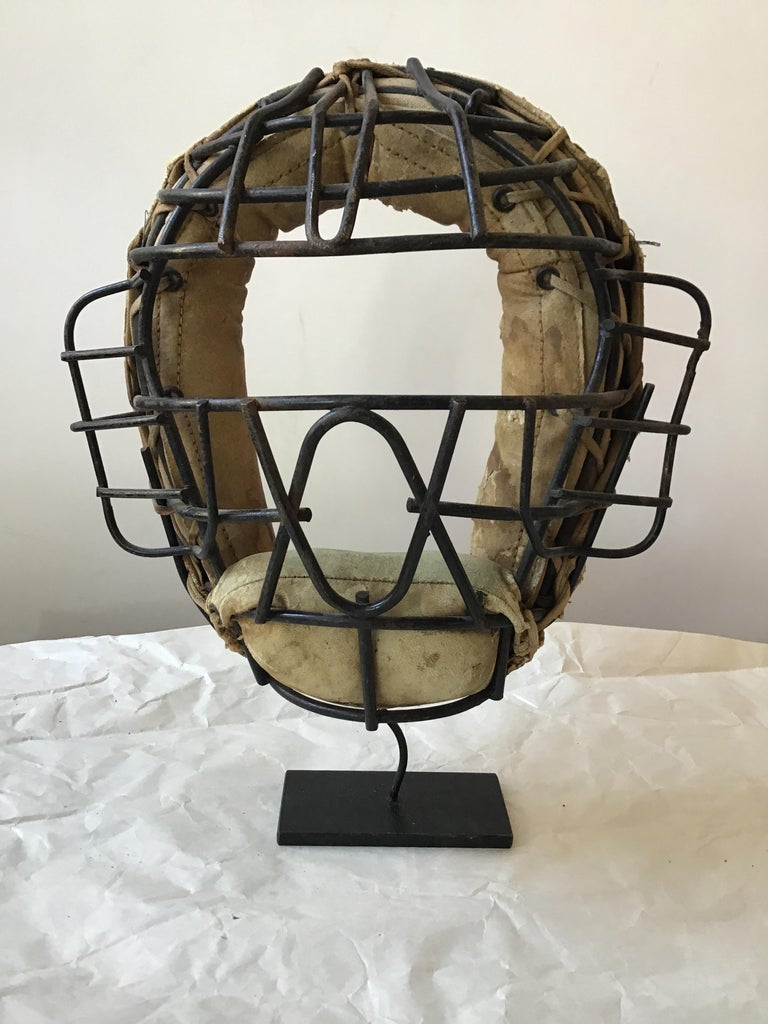 Collection Of 8  Baseball Gloves And Catchers Masks From The 1940s For Sale 2