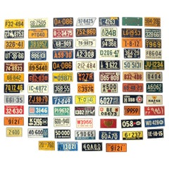 Collection of 1953 Bicycle License Plates, New Old Stock