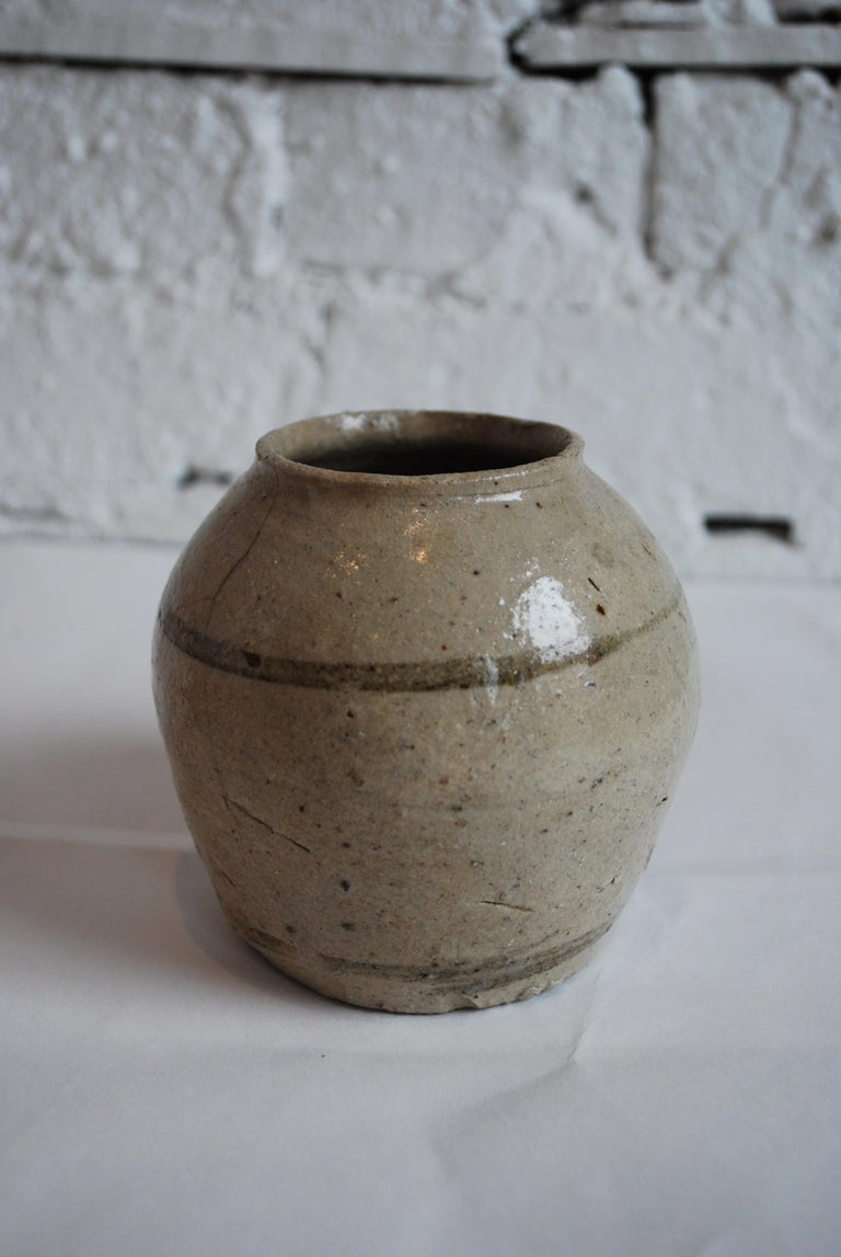 Collection of 19th-20th Century Japanese Calligraphy and Glazed Ceramic Vessels In Good Condition For Sale In Chicago, IL