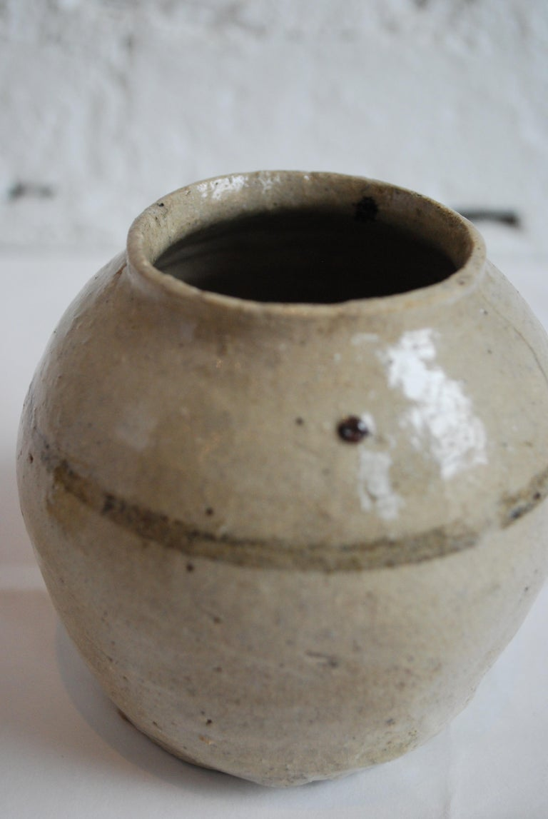 Collection of 19th-20th Century Japanese Calligraphy and Glazed Ceramic Vessels For Sale 1
