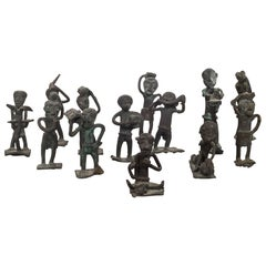 Collection of 19th Century Bronze Ashanti Gold Weights, circa Pre-1894