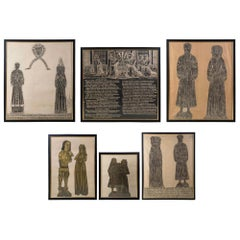 Collection of 19th Century English Medieval Brass Rubbings