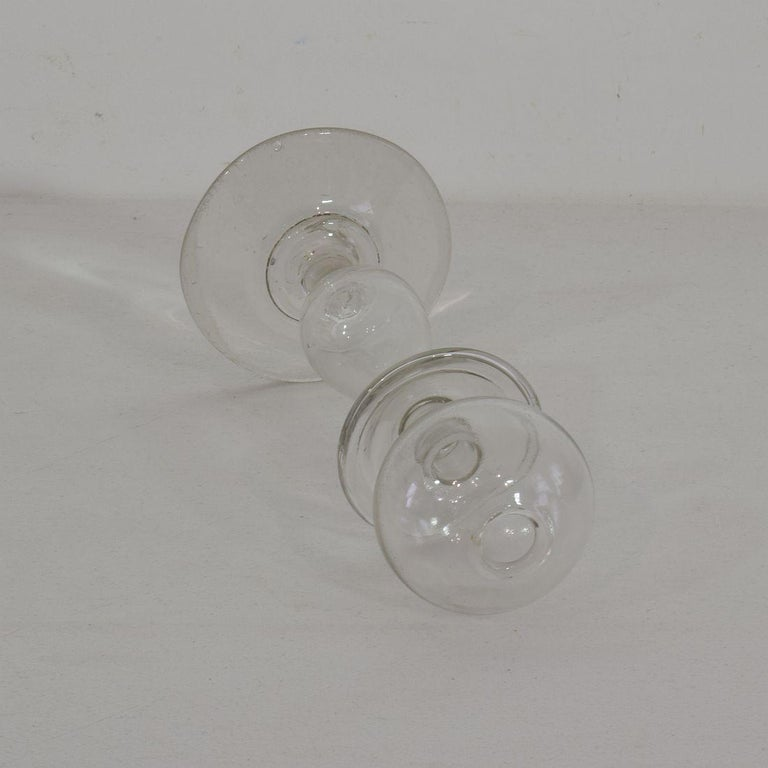 Collection of 19th Century French Glass Weaver Oil Lamps In Excellent Condition For Sale In Amsterdam, NL