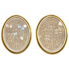 Collection of 19th Century Gilt / Plaster Intaglios / Grand Tour, Pair Ovals