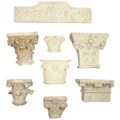 Sammlung des 19. Jahrhunderts Gips Abgüsse von architektonischen Elementen