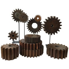 Collection of 19th Century Wood Gears