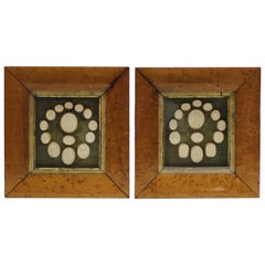 Collection of 28 Antique Grand Tour Intaglios in Two Fruitwood Frames