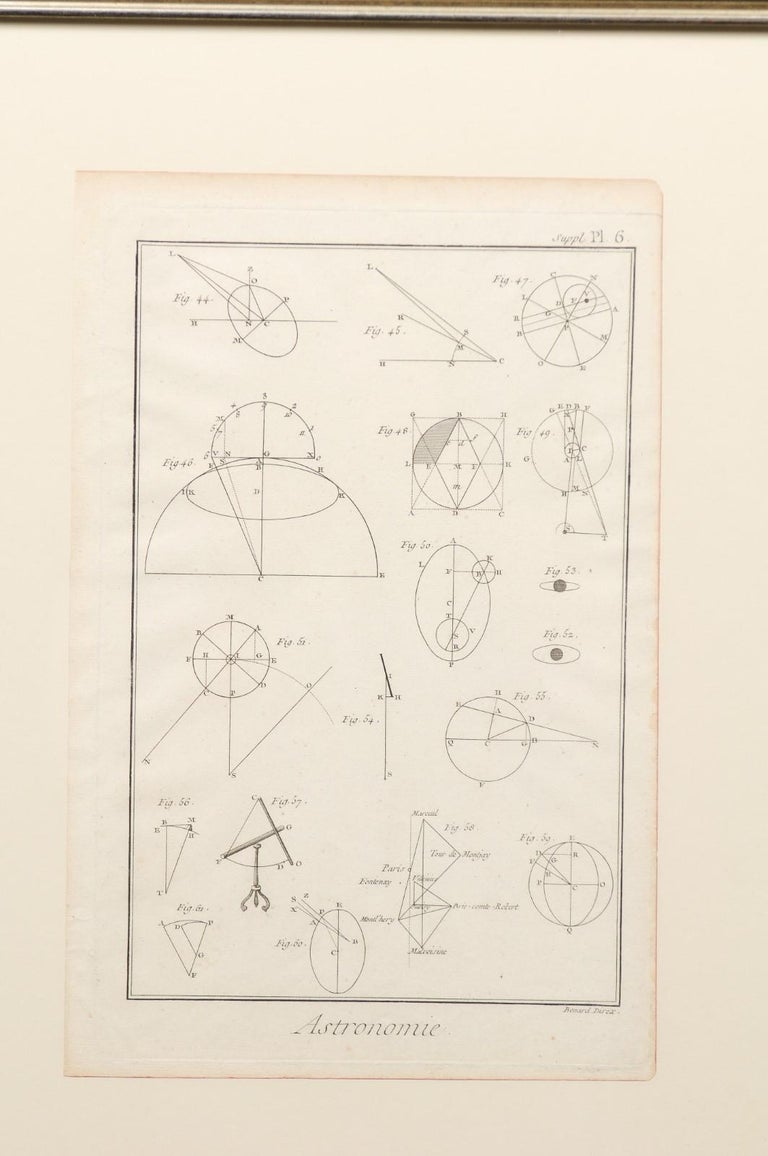 Collection of 3 Framed 18th Century Bernard Direx Geometric Renderings For Sale 4