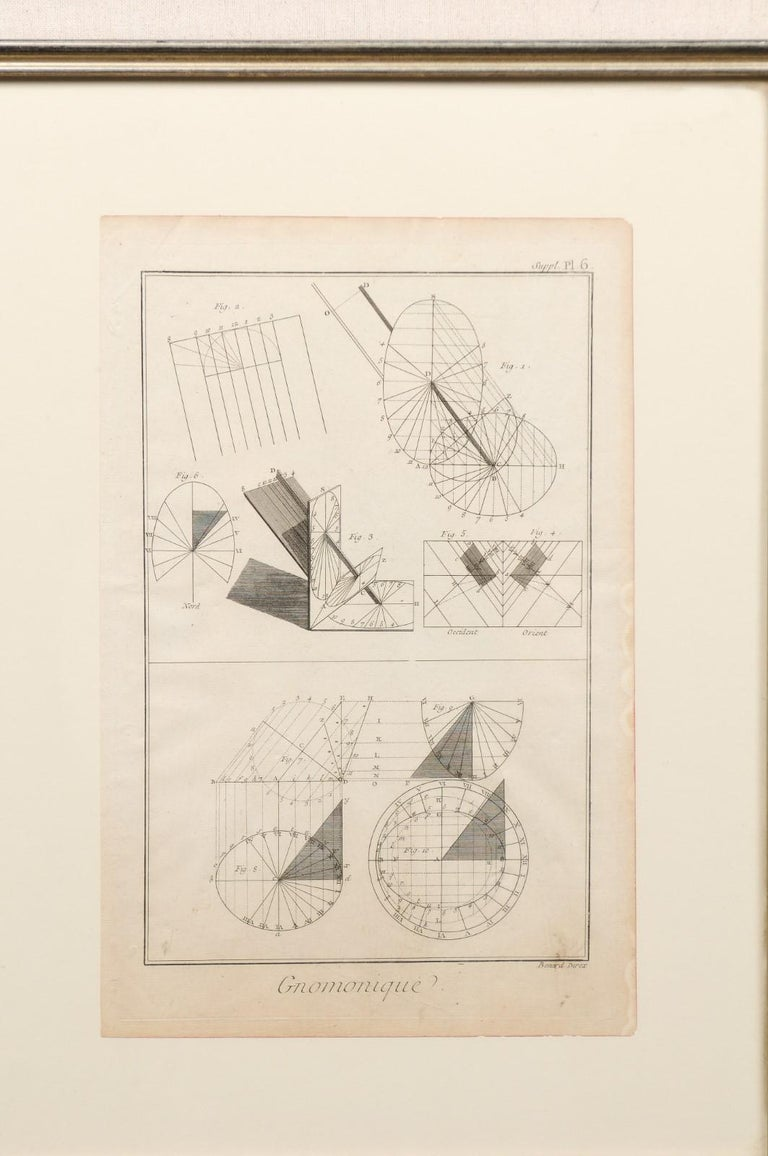 18th Century and Earlier Collection of 3 Framed 18th Century Bernard Direx Geometric Renderings For Sale
