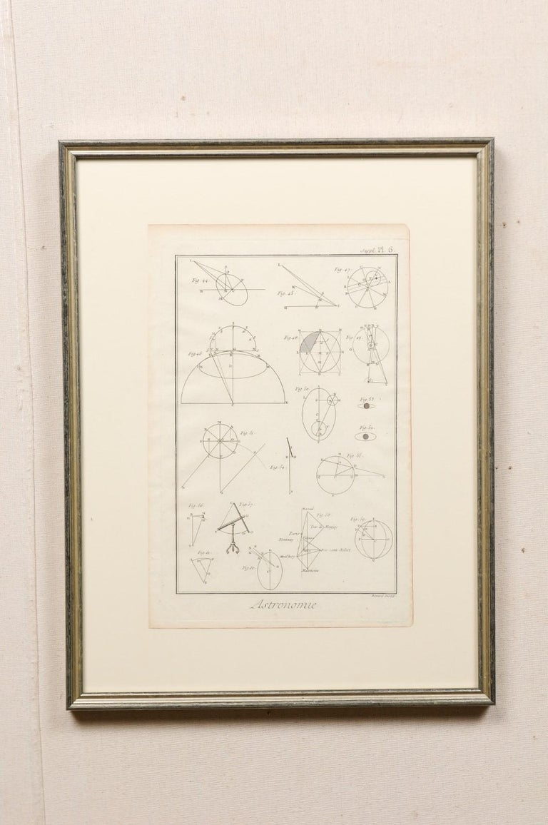 Collection of 3 Framed 18th Century Bernard Direx Geometric Renderings For Sale 3