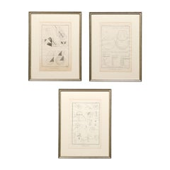 Collection of 3 Framed 18th Century Bernard Direx Geometric Renderings