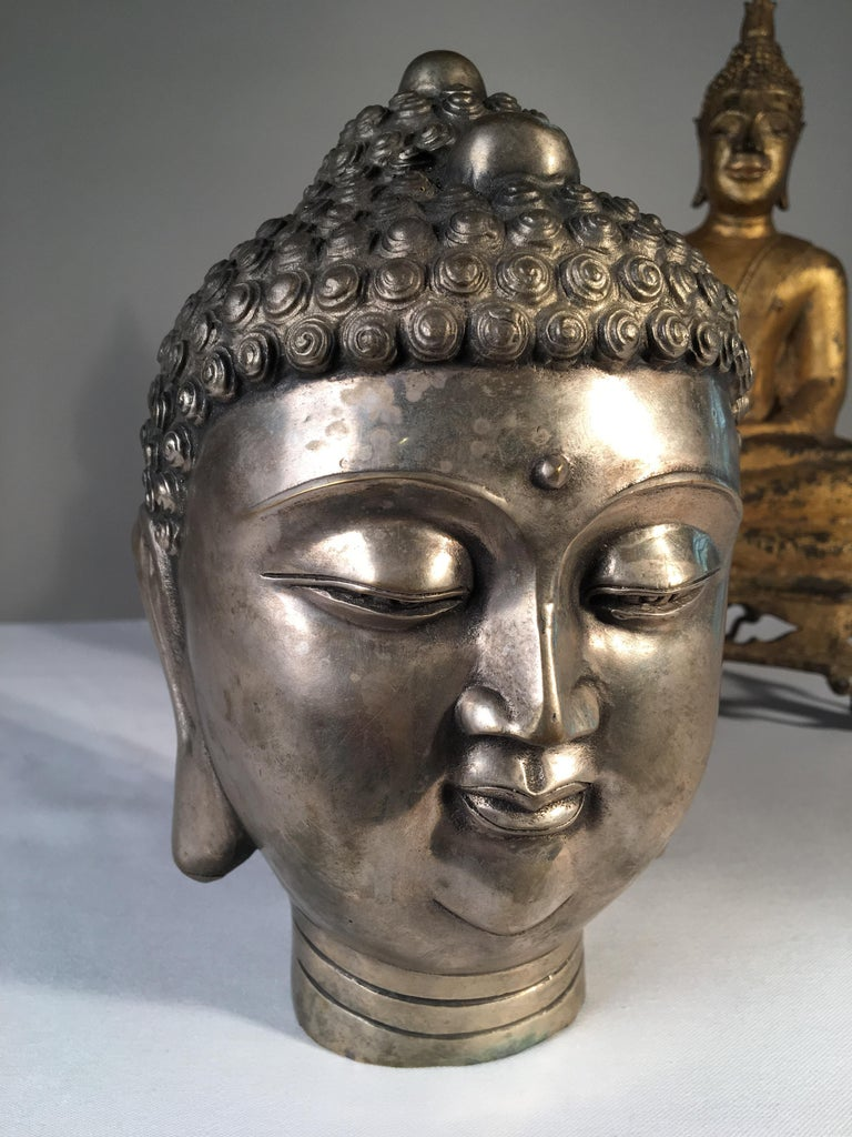 Other Collection of 3 Metal Buddhas For Sale