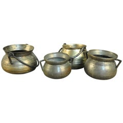 Collection of 4 Bronze Olas, Cooking Pots