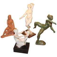 Collection Of 4 Sculptures By  Richard Miller (1923-2008)
