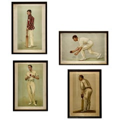 """Collection of 4 Vanity Fair Cricketing Themed """"Spy"""" Prints"""