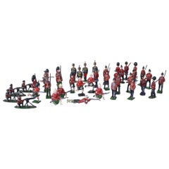 Collection of 40 Pre WW1 Lead Soldiers, Scots Guards and English Regiments