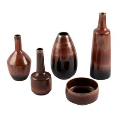 Collection of 5 Ceramic Pieces by Carl-Harry Stålhane for Rörstrand, circa 1960s