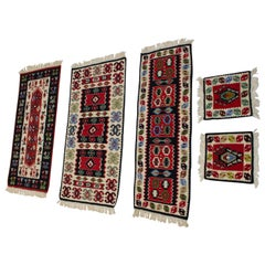 Collection of 5 Wool Kilim Rugs, 1960s