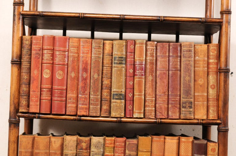 Collection of 65 Antique Swedish Leather-Bound Books from the 1920s For Sale 3