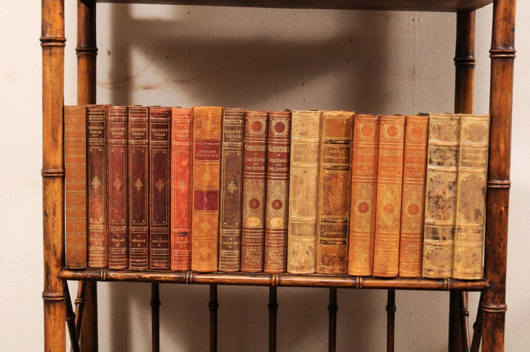Collection of 65 Antique Swedish Leather-Bound Books from the 1920s For Sale 5