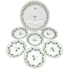 Collection of 7 Plates Herend Hungary Porcelain Wall Decoration Ready to Hang
