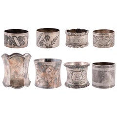 Collection of 8 19th Century Napkin Rings