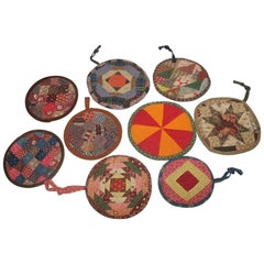 Collection of 9 19thc Lancaster Co. Pa. Pot Holders