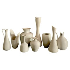 Collection of 9 Vases by Gunnar Nylund for Rörstrand, Sweden