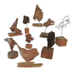 Collection of Abstract Driftwood Sculptures, Gloucester, MA, circa 1960s-1970s