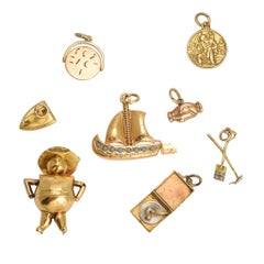 Collection of Antique and Vintage Gold Charms