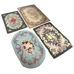 Collection of Antique Hand Hooked Rugs