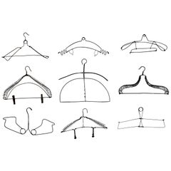 Collection of Antique Unusual Wire Clothing Hangers