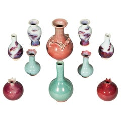 Collection of Chinese Porcelain Glazed Vases